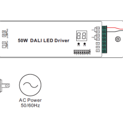 Dali Led Driver Wiring Diagram Consumer Unit 2 Certified 50w Dimmable Srp 2309 D2 50cctp