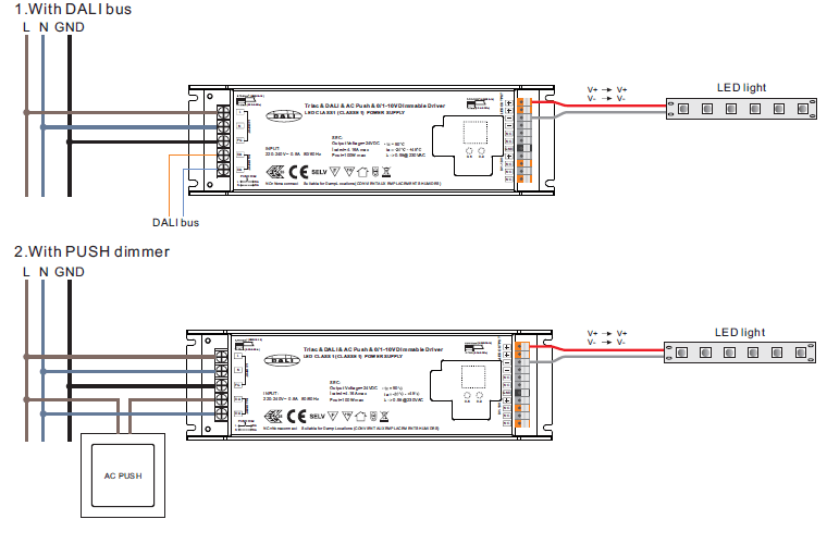 10v Dimming Wiring Diagram 100w Triac Dimming Driver With 4 Dimming Interfaces In 1
