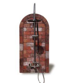 Rustic Brick Outdoor Shower  SunRinse Outdoor Showers