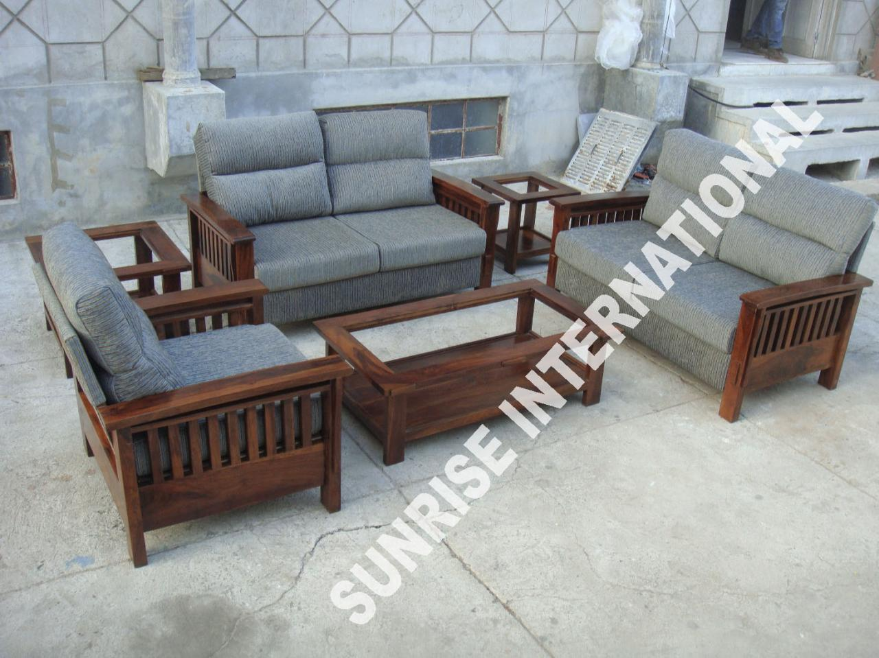 cane sofa set kerala klaussner sectional wooden