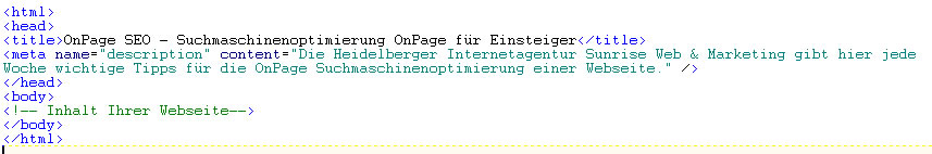 Description im Quellcode