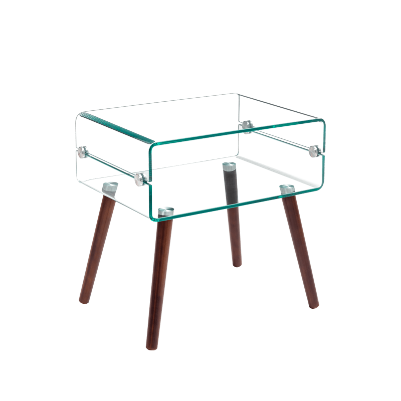 sunrise italy design glass end table