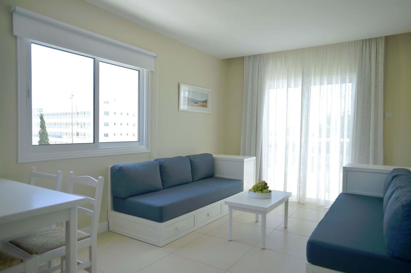 sofa protaras lazy boy bed couch accommodation sunrise gardens hotel apts cyprus