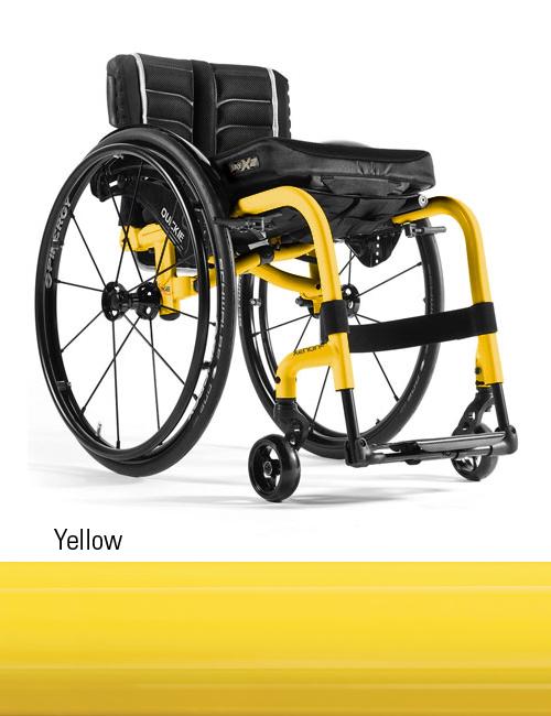 yellow wheelchair puff chair rocker quickie xenon lightweight folding sunrise medical the