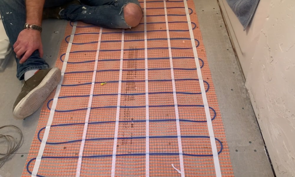 9 steps to install in floor heating for