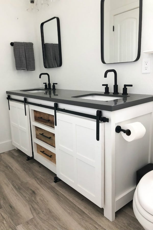 27 Homemade Bathroom Vanity Cabinet Plans You Can Diy Easily