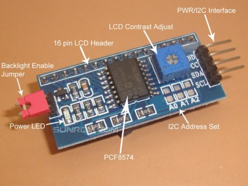 Image result for lcd i2c backpack LED pin