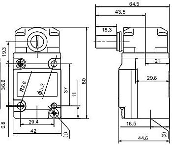 SUNS-HMS-1A-04C Heavy Duty Limit Switches