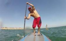 man paddling