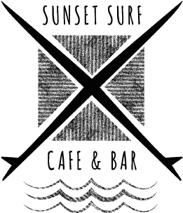 Sunset Surf Cafe and surf school at Gwithian in Cornwall