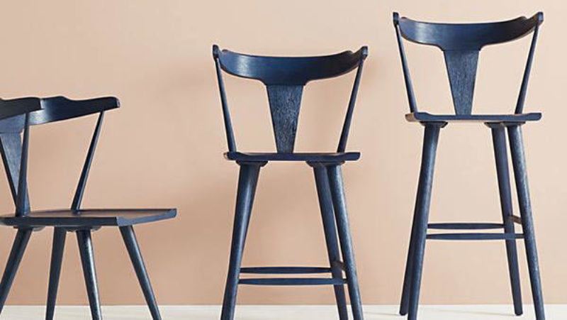 kitchen bar chairs reupholster chair chic stools to punch up your space sunset magazine anthropologie