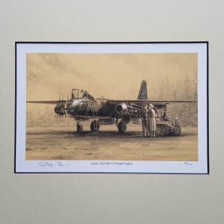 Arado AR 234 B 2 N Night Fighter Pencil print Drawing Stephen Brown