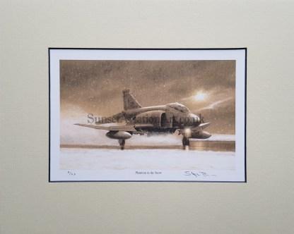 Phantom in the Snow (Stephen Brown Aviation Artist)