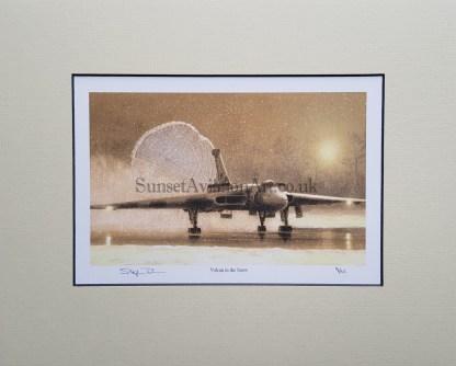 Vulcan in the Snow (Stephen Brown Aviation Artist)