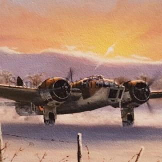 Blenheim IV Winter Ops greeting cards