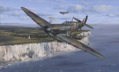 RAF Supermarine Spitfire Birthday card Defending The Realm