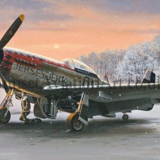 Christmas card P-51 Mustang Early Morning Light