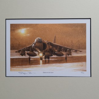 Harrier in the snow pencil print Stephen Brown