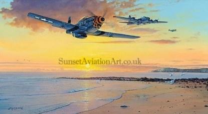 Aviation Christmas card P-51 Mustang Homeward Bound