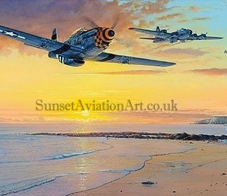 Aviation Christmas card P-51 Mustang Homeward Bound