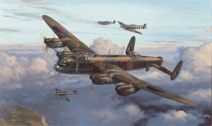 Avro Lancaster Moral Support Birthday card