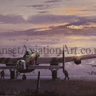 Birthday card Avro Lancaster Operations On