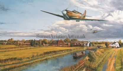 Birthday card Spitfire Pinpoint Navigation