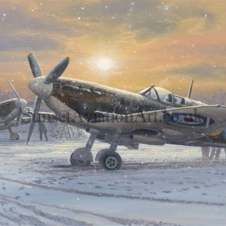 RAF Spitfire Christmas card The pride of Britain