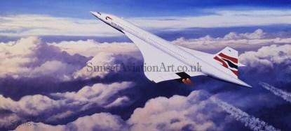 Concorde The Pride of Britain Birthday card
