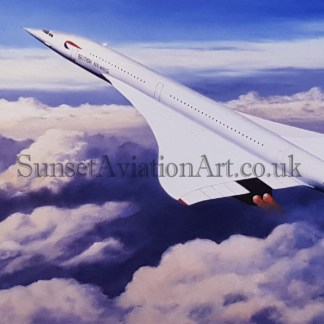 Concorde The Pride of Britain greeting card