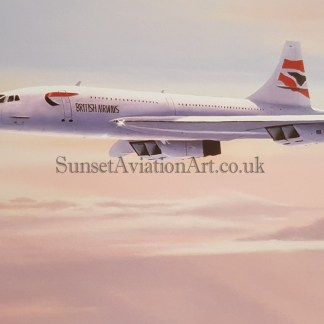 Aviation Birthday card Concorde Atlantic Flyer