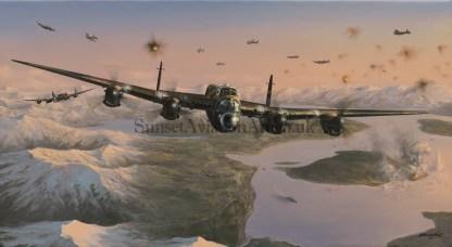 Aviation card Avro Lancaster Attack on the Tirpitz