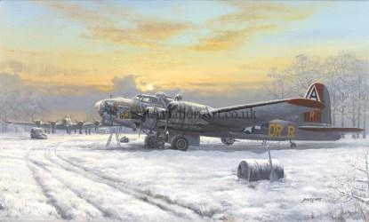 Christmas card B-17 Bomber Nine o Nine