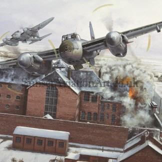 Birthday card De-Havilland Mosquito operation Jericho