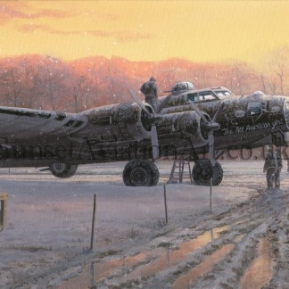 Aviation Xmas card B-17 Those Golden Moments