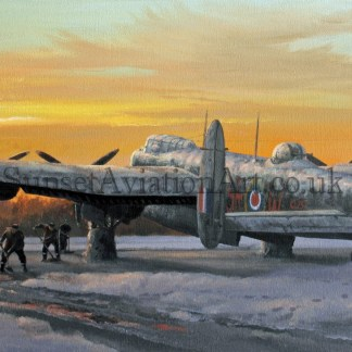 Lancaster Winter of 43 Xmas card