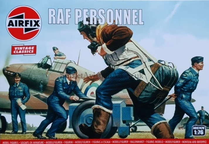 AIRFIX A00747V RAF Personnel 1:76 Figures Model Kit