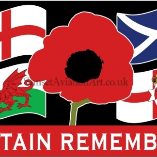 Britain Remembers Flag
