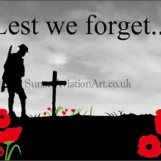 Lest we Forget Soldier with cross