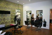hairdressing salon sunset