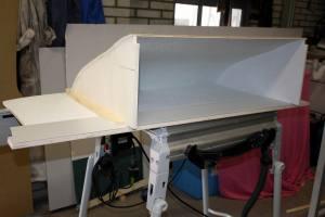 Cabinekast in de werkplaats gemaakt
