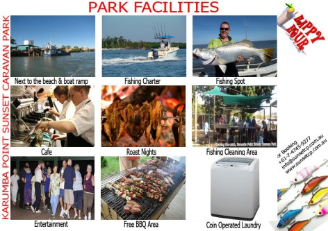 Park Facilities karumba point sunset caravan park accommodation cabins hotels fishing birds wild life queensland qld online direct booking book now