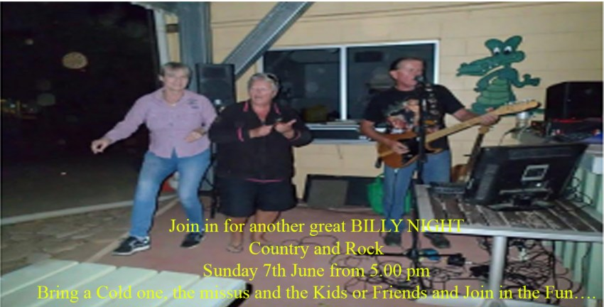 Join in for another great BILLY NIGHT