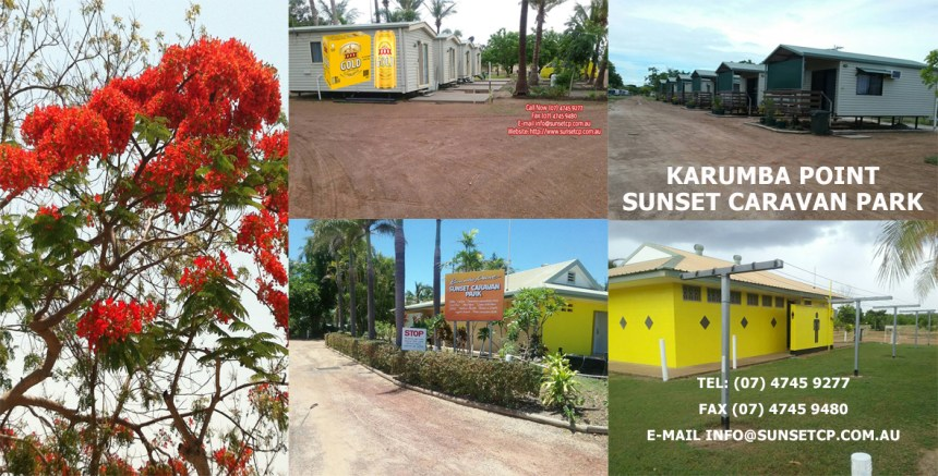 Karumba point Sunset Caravan Park Cabins Hotels Birds Online Booking