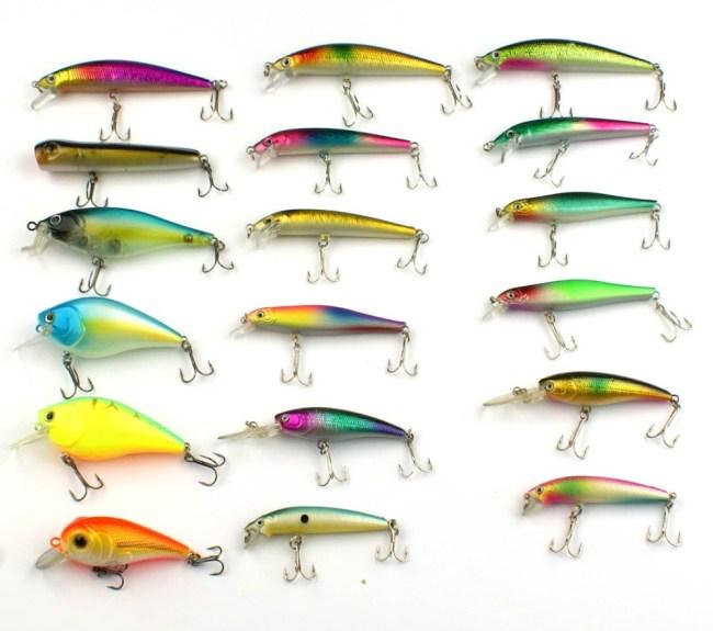 Lots-20-PCS-Big-Minnow-Baits-Small-Fat-Crank-Baits-Hooks-Saltwater-Fishing-Lures-Tackle-Free