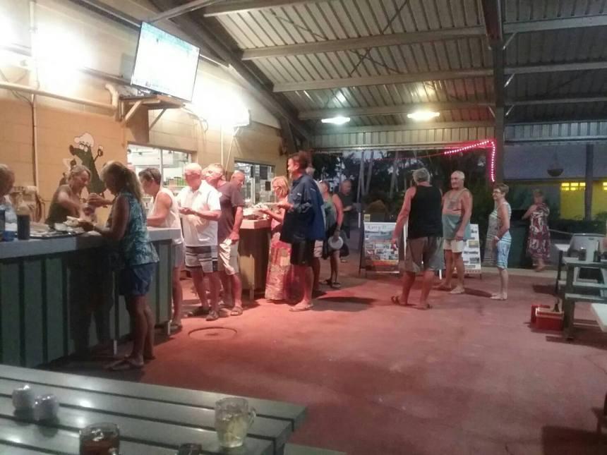 Another great mea night at Karumba Point Sunset Caravan Park