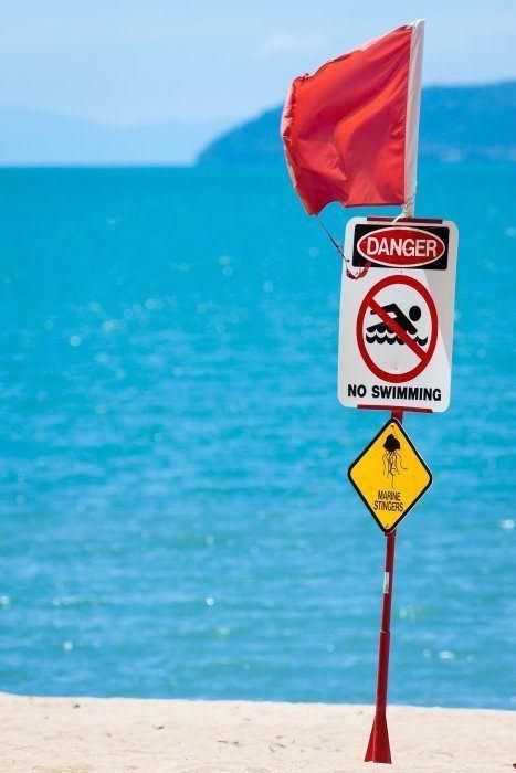 Don't Take Beach Safety Signs Lightly Photo (C) Johan Larson, Shutterstock com