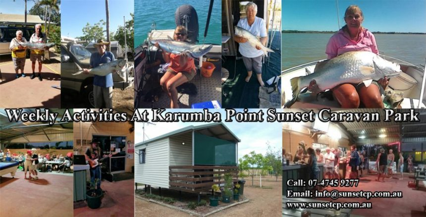 Weekly Activities Schedule From The Karumba Point Sunset Caravan Park