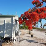 Sunset Caravan Park is opposite to the Norman River Entrance