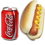 HOT DOG AND CAN